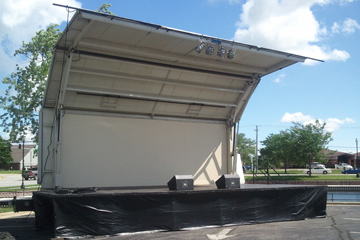 Super Stage Rental with Banners and Banner Bars